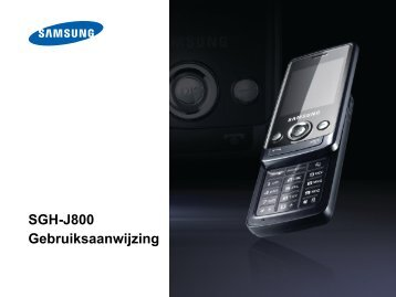 SGH-J800 Gebruiksaanwijzing - Portable Gear