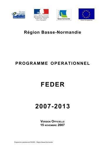 Programme Opérationnel FEDER 2007-2013 - Europe Urbain