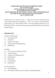 Studienordnung der Humanwissenschaftlichen Fakultät der ...