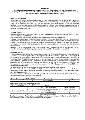 Anhang A6 Französisch für das Lehramt an Grund-, Haupt- und ...