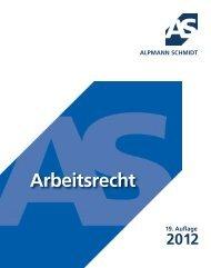 ARBEITSRECHT 2012 - Alpmann Schmidt