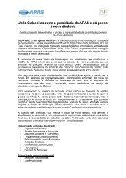 João Galassi assume a presidência da APAS e dá posse à nova ...