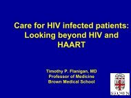 Care for HIV infected patients: Looking beyond HIV and HAART