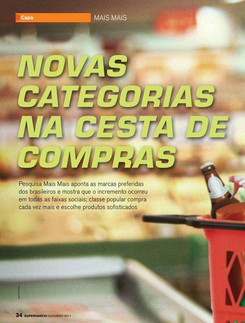NOVAS CATEgORIAS NA CESTA DE COMPRAS - Apas