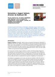 Entrevista a Eugeni Sallent, director de Radiocat XXI - InCom UAB