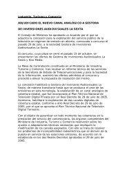 Industria, Turismo y Comercio ADJUDICADO EL NUEVO CANAL ...