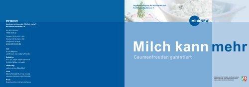 Milchwoche - Rezeptbroschüre LVM