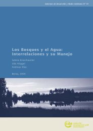 Los Bosques y el Agua - Centre for Development and Environment