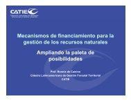 Mecanismos de financiamiento para la gestión de ... - Portal Cuencas