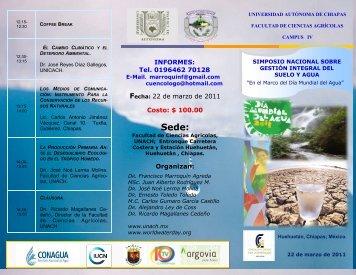 22 de marzo de 2011 Costo: $ 100.00 Organizan - Portal Cuencas