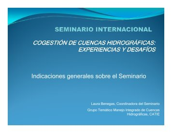 I di i l b l S i i Indicaciones generales sobre el ... - Portal Cuencas