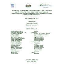 PROPUESTA: PLAN DE ORDENACIÓN Y ... - Portal Cuencas