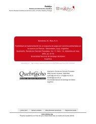 Redalyc.Factibilidad de implementación de un ... - Portal Cuencas