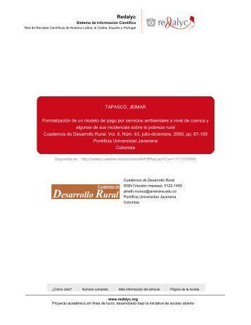 Redalyc.Formalización de un modelo de pago por ... - Portal Cuencas