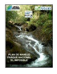 plan de manejo parque nacional el imposible - Portal Cuencas