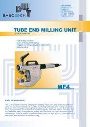 PDF MF 4 tube beveling machine - DWT Gmbh