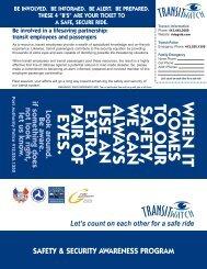 transit employees and passengers