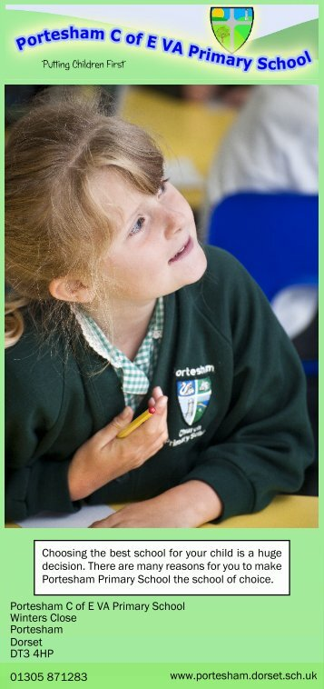 Leaflet summer 2012 - Portesham CE VA Primary School