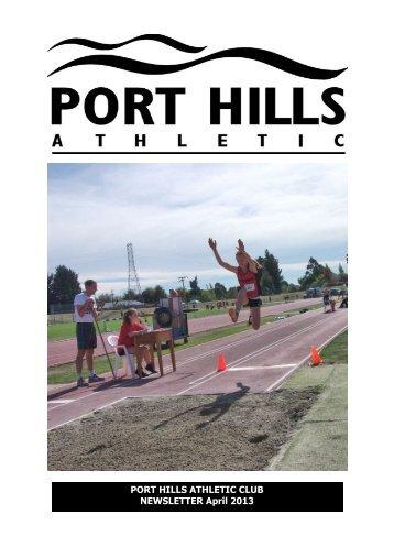 PHA Webletter April 2013.pub - Port Hills Athletic Club