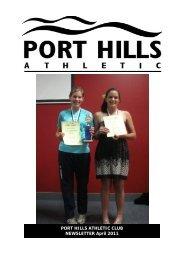 Download PDF of April 2011 newsletter - Port Hills Athletic Club