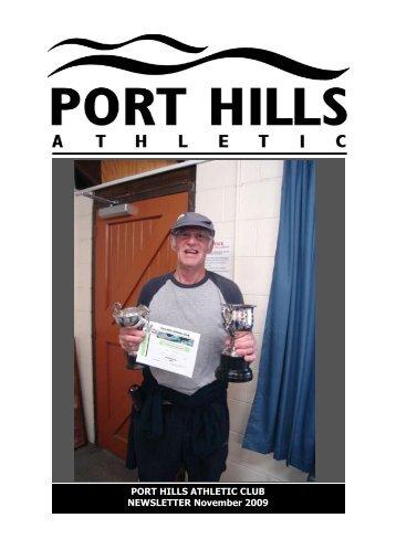 PHA Webletter Nov09.pub - Port Hills Athletic Club