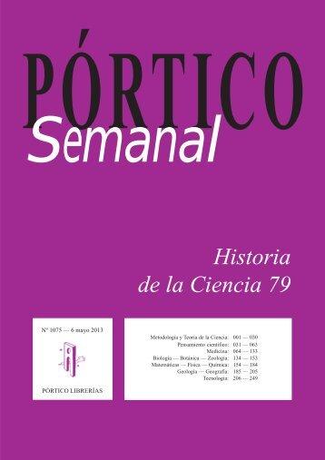 Portico Semanal 1075 Historia de la Ciencia 79 - Pórtico librerías