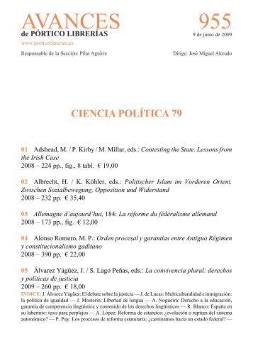Portico Avances 955 Ciencia politica 79 - Pórtico librerías