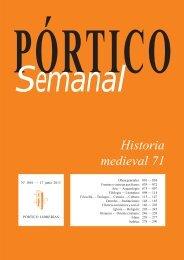 Portico Semanal 1081 Historia medieval 71 - Pórtico librerías