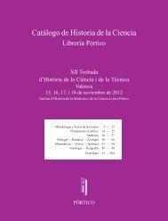 Historia de la ciencia en Pórtico. XII Trobada d ... - Pórtico librerías