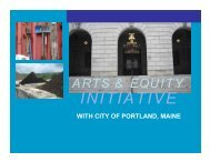 art & equity initiative - City of Portland