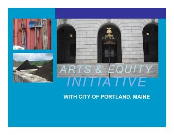 art & equity initiative - City of Portland