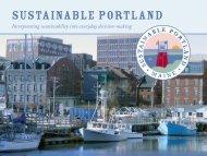 Sustainable Portland Summary Brochure - City of Portland