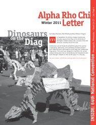 Dinosaurs Letter Alpha Rho Chi Diag