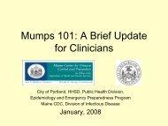 Mumps 101 - City of Portland