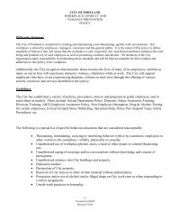 Workplace Conduct/Violence Prevention - City of Portland