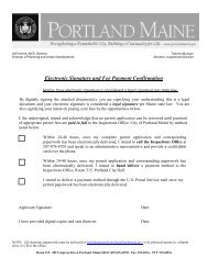 Home Occupation Permit - City of Portland