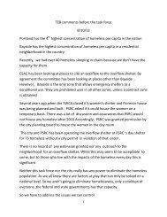 Tom Blackburn Public Comments Aug 2012 - City of Portland
