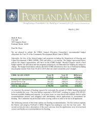 CDBG 2013-2014 Funding Recommendations - City of Portland