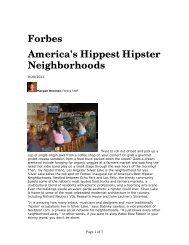 Forbes America's Hippest Hipster Neighborhoods - City of Portland