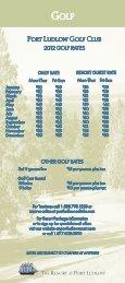 Rate Card - Port Ludlow Resort