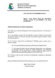 LEI Nº 936, DE 21 DE DEZEMBRO DE 2011 Altera o nível salarial ...