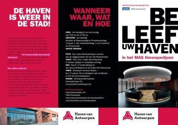 WANNEER WAAR, WAT EN HOE DE HAVEN IS ... - Port of Antwerp