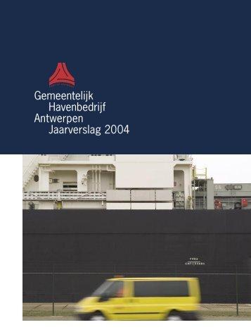 Gemeentelijk Havenbedrijf Antwerpen Jaarverslag ... - Port of Antwerp
