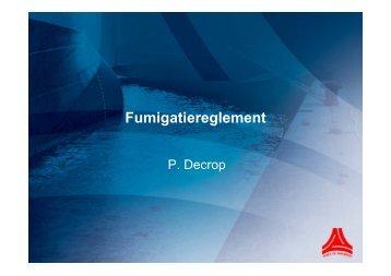 Fumigatiereglement - Port of Antwerp
