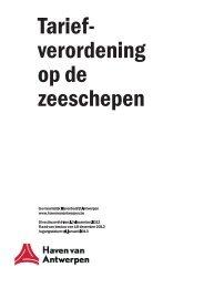 Tariefverordening op de zeeschepen - 2013 ... - Port of Antwerp