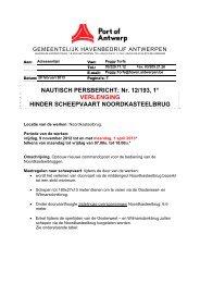 NAUTISCH PERSBERICHT: Nr. 12/193, 1 ... - Port of Antwerp