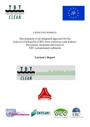 TBT Clean project - Layman's Report - Port of Antwerp