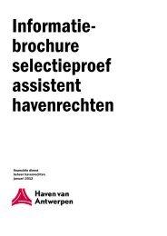 informatiebrochure examen assistent ... - Port of Antwerp