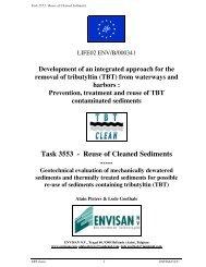 Task 3553 - Reuse of Cleaned Sediments ----- - Port of Antwerp