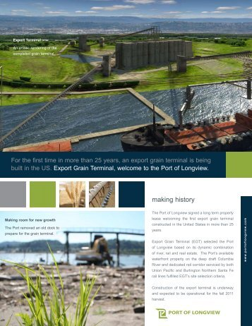 making history - Port of Longview